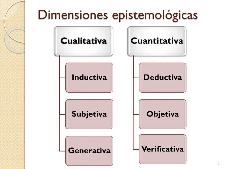 Dimensiones epistemológicas