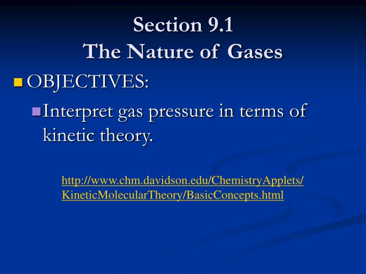 Section 9 1 the nature of gases1