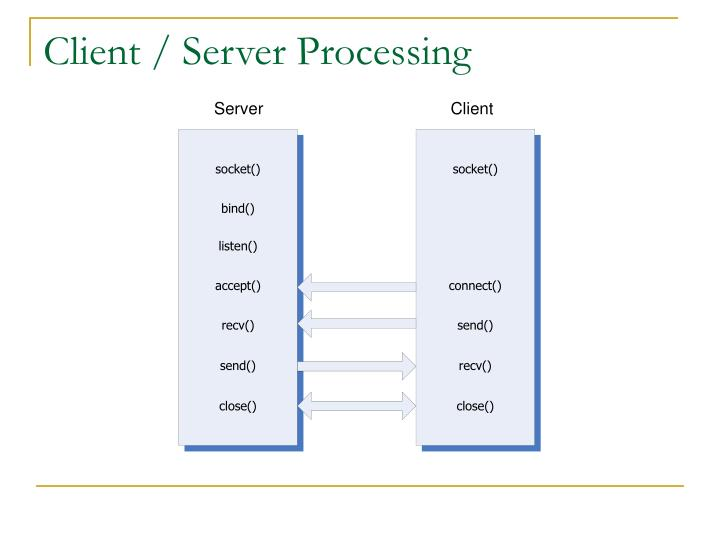 Client / Server Processing
