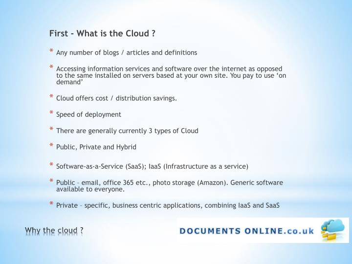 Why the cloud1