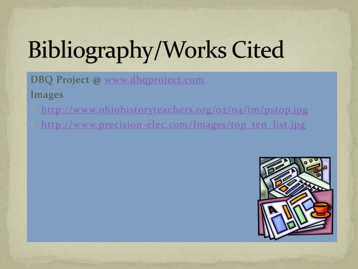 Bibliography/Works Cited