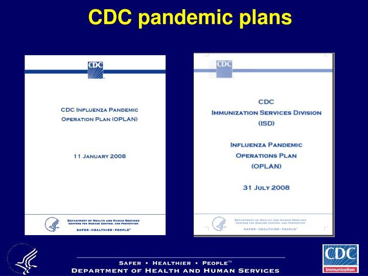 CDC pandemic plans