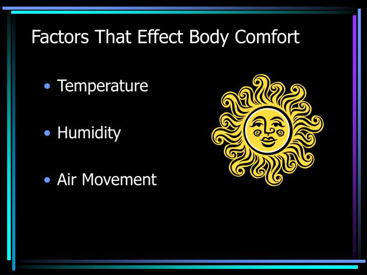 Factors That Effect Body Comfort