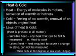 heat cold