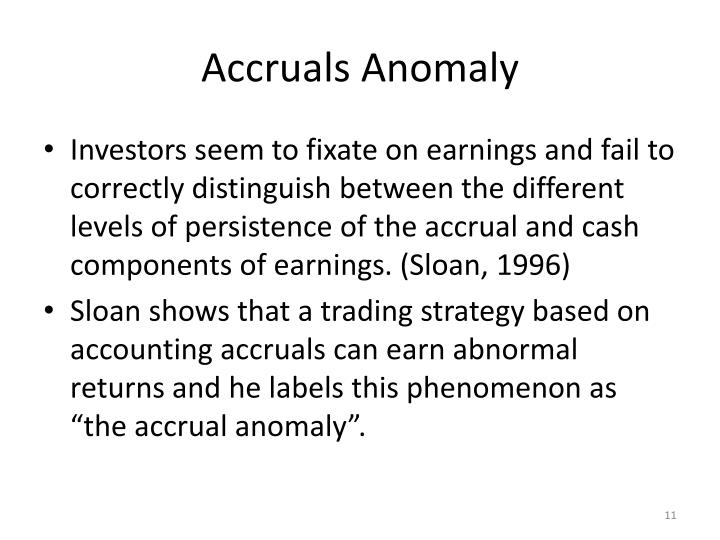 Accruals Anomaly