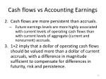 cash flows vs accounting earnings