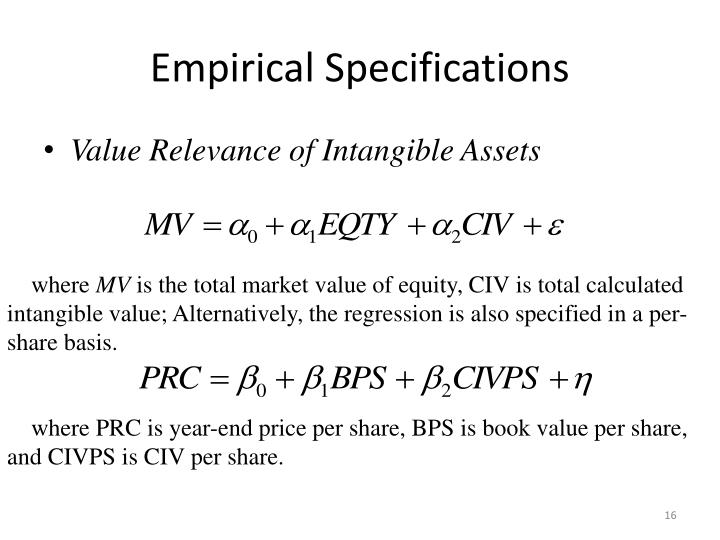 Empirical Specifications