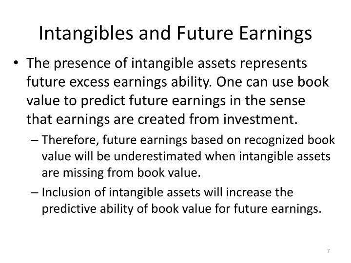 Intangibles and Future Earnings