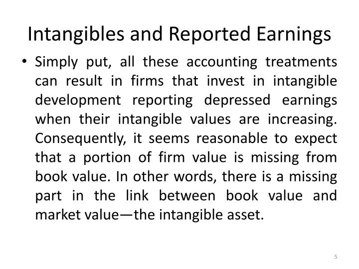 Intangibles and Reported Earnings