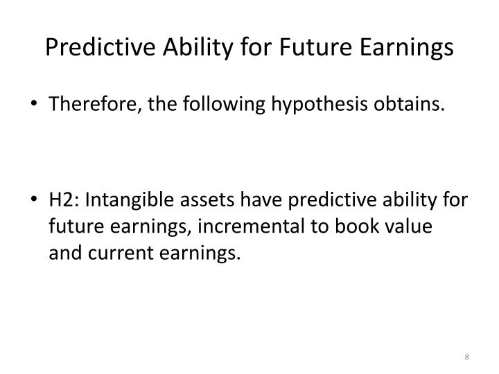 Predictive Ability for Future Earnings