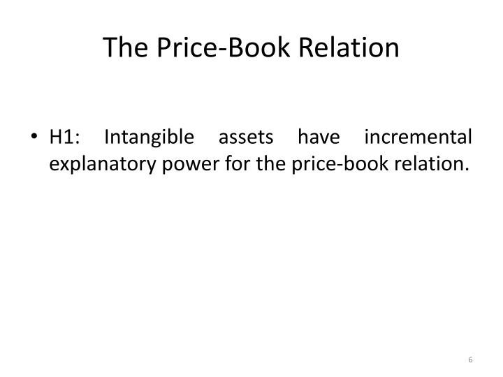 The Price-Book Relation