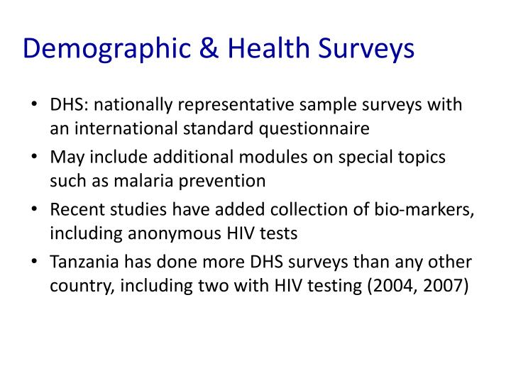 Demographic & Health Surveys