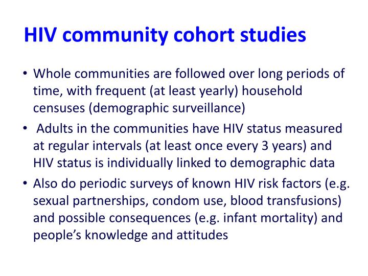 HIV community cohort studies