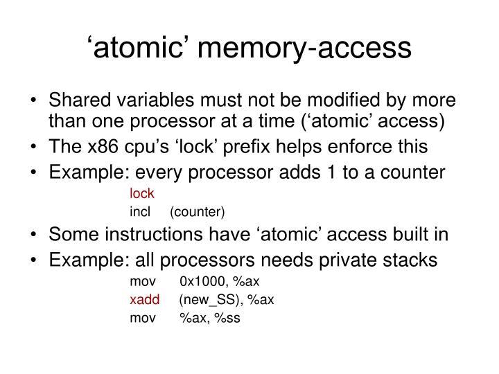 'atomic' memory-access