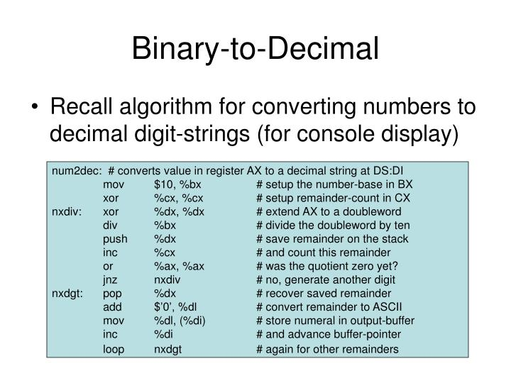 Binary-to-Decimal