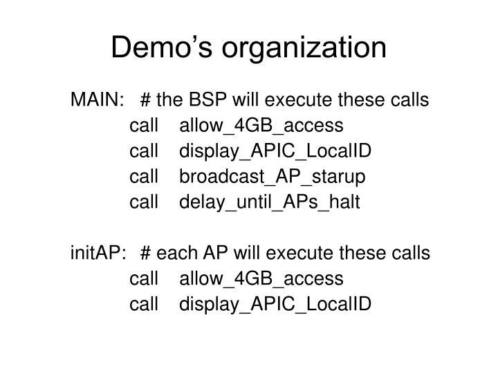 Demo's organization