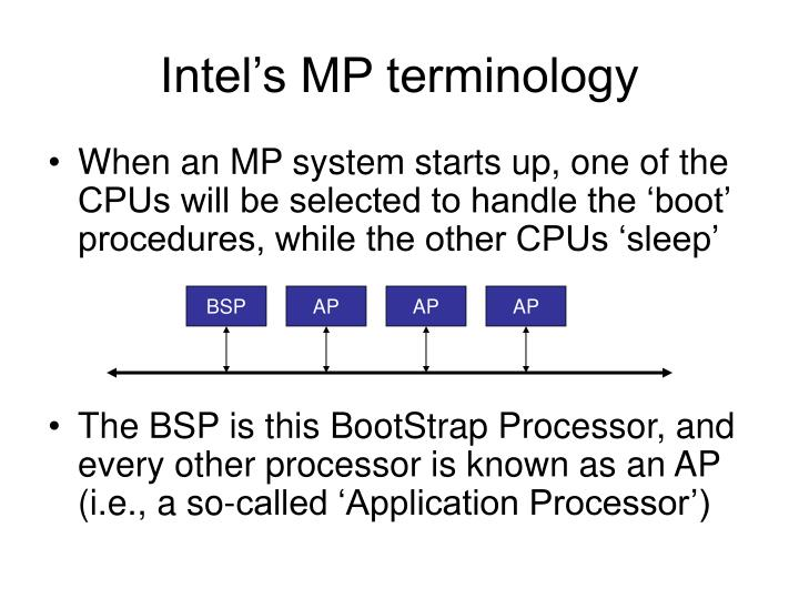 Intel's MP terminology