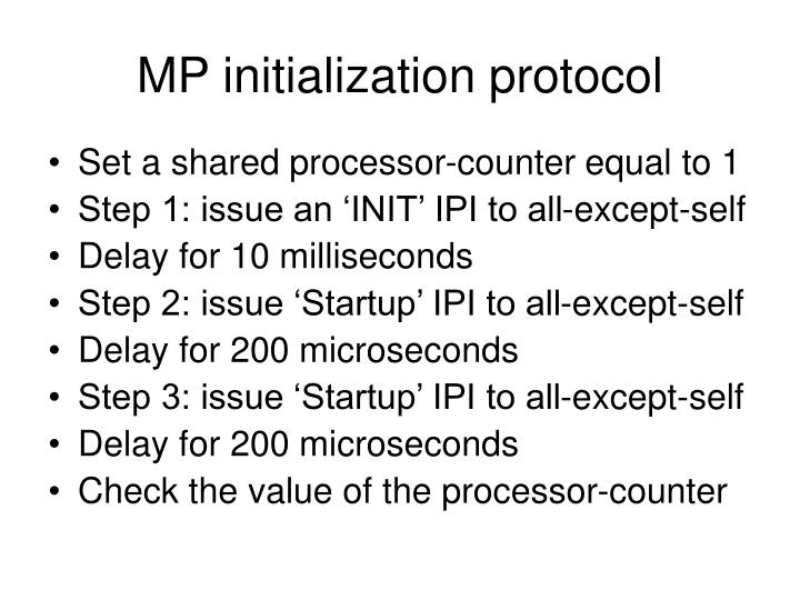 MP initialization protocol