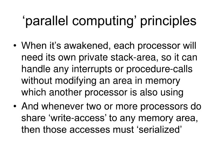 'parallel computing' principles