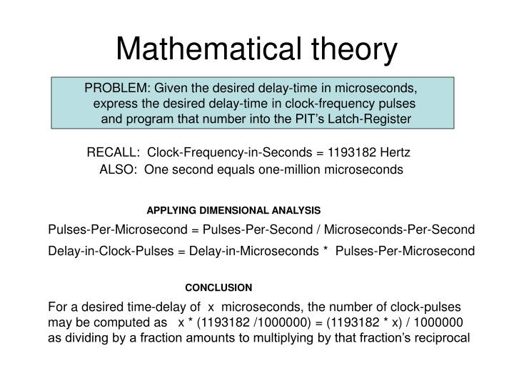 Mathematical theory