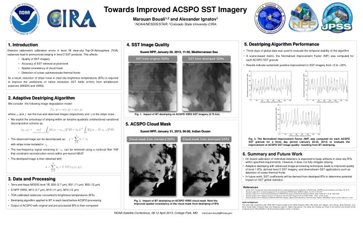 Towards Improved ACSPO SST Imagery