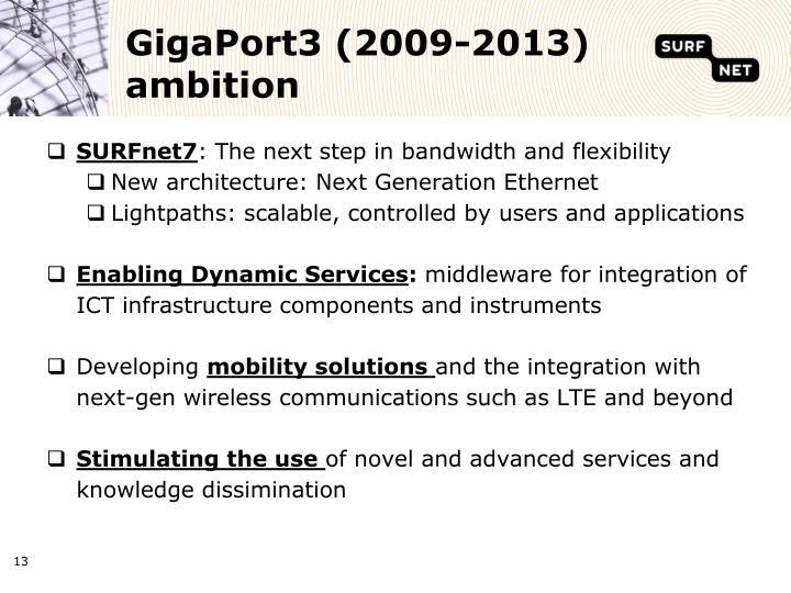 GigaPort3 (2009-2013) ambition