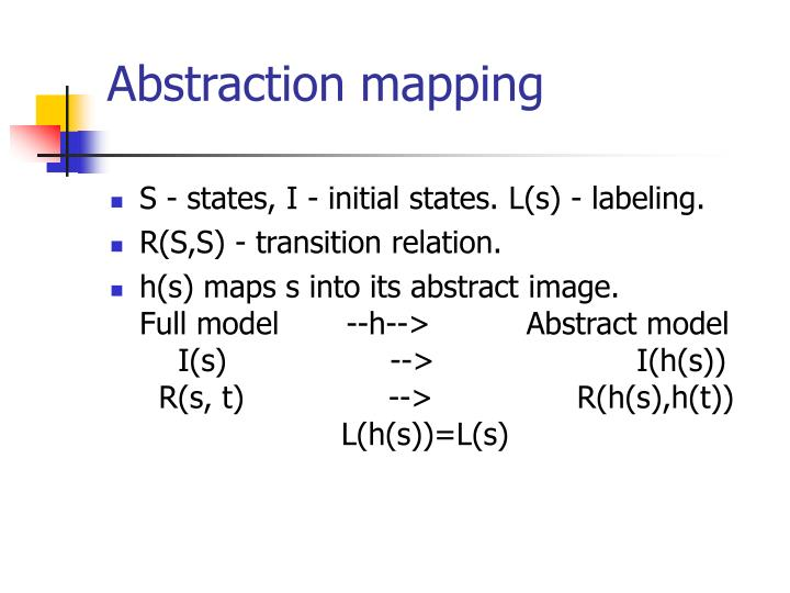 Abstraction mapping