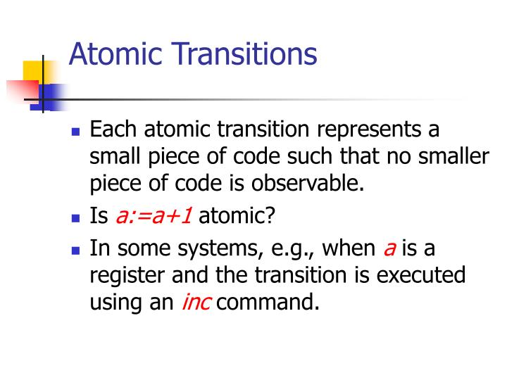 Atomic Transitions
