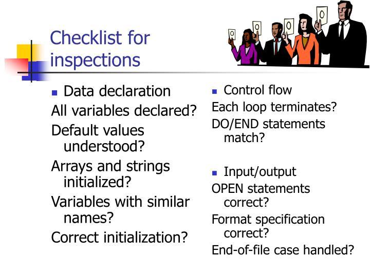 Data declaration