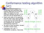 conformance testing algorithm vc