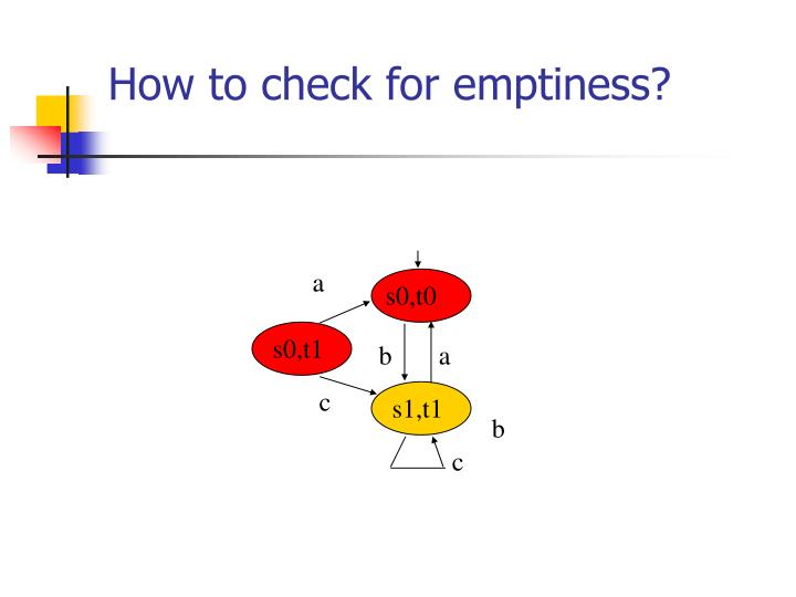 How to check for emptiness?