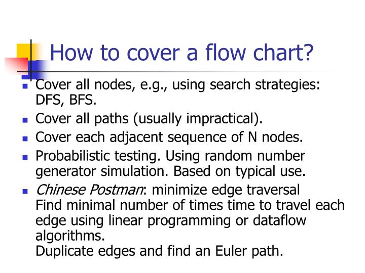 How to cover a flow chart?