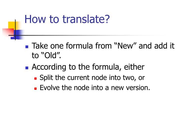 How to translate?