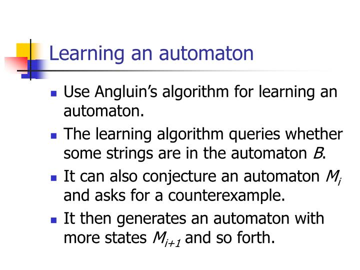 Learning an automaton