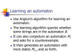 learning an automaton