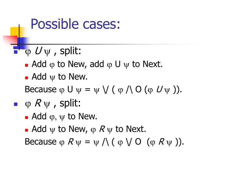 Possible cases:
