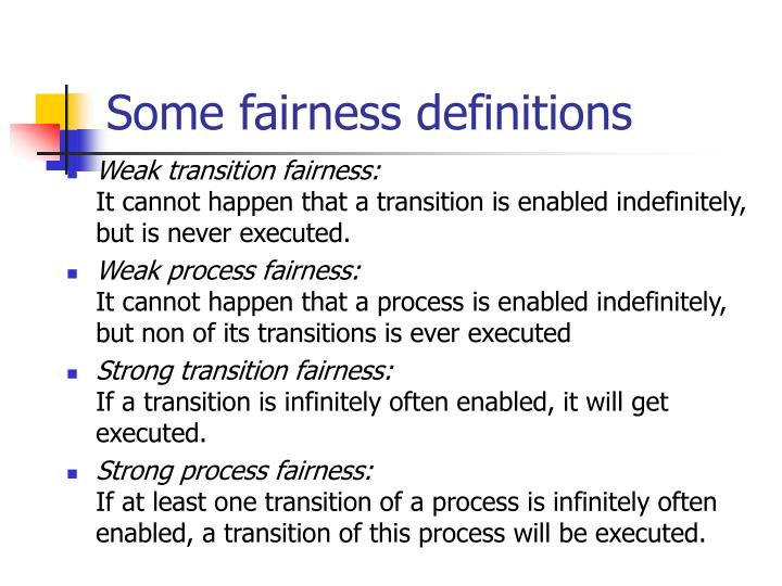 Some fairness definitions