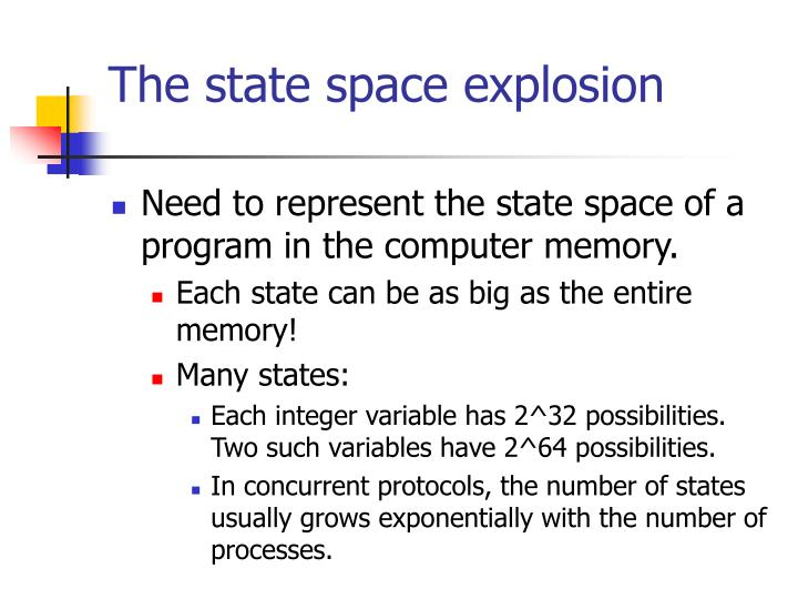 The state space explosion