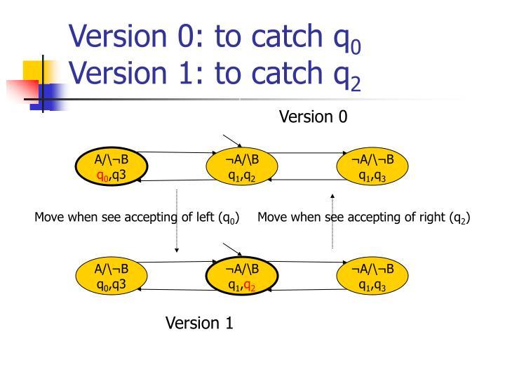 Version 0: to catch q