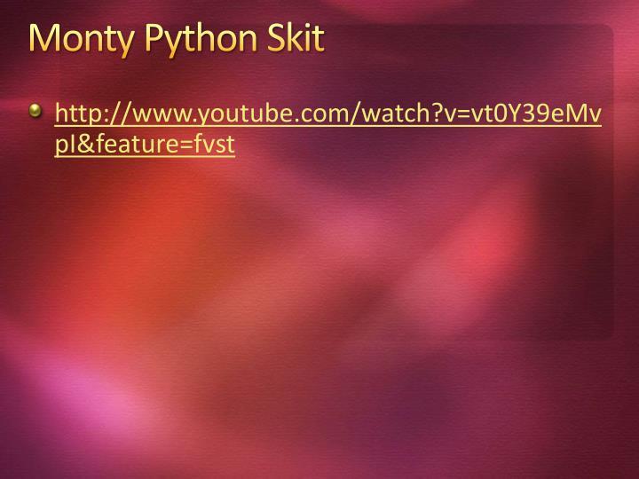 Monty Python Skit