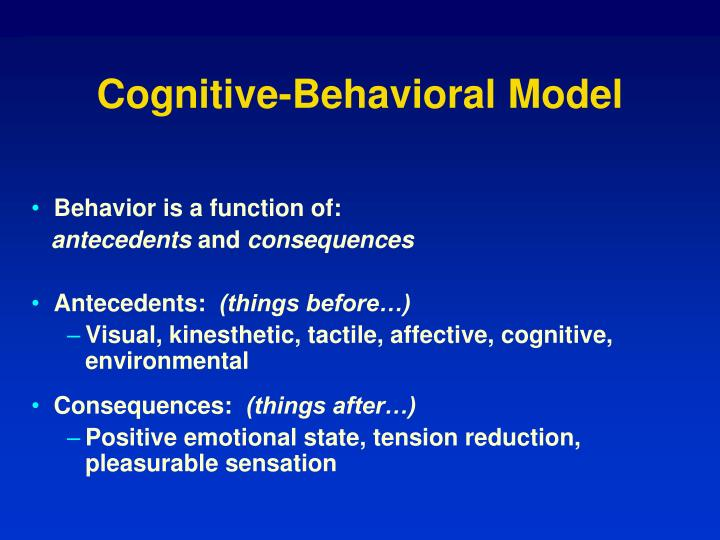 Cognitive-Behavioral Model