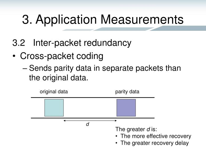 3. Application Measurements