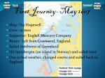 first journey may 1607