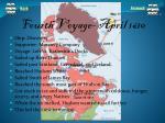 fourth voyage april 1610