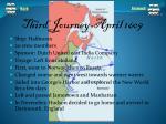 third journey april 1609