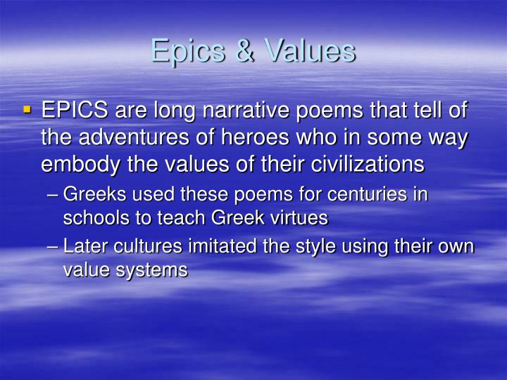 Epics & Values