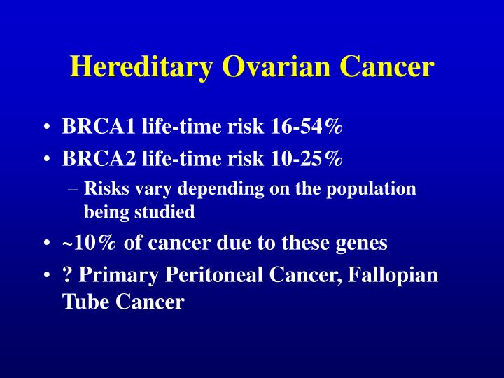 Hereditary ovarian cancer