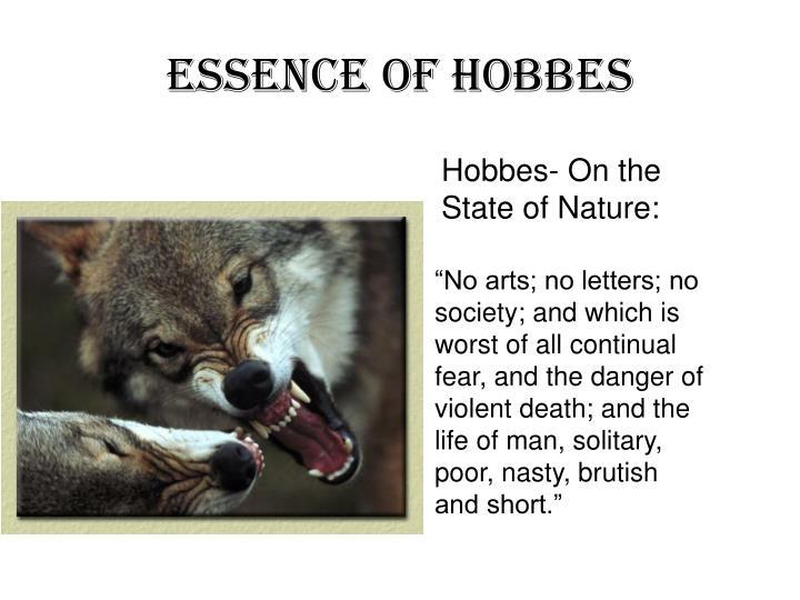 Essence of Hobbes