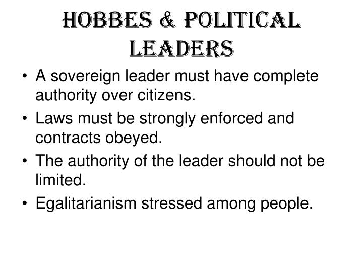 Hobbes & Political Leaders