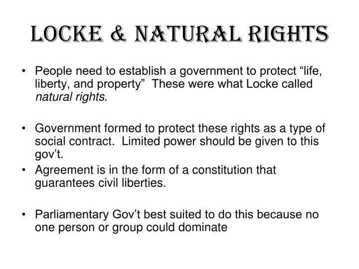 Locke & Natural Rights